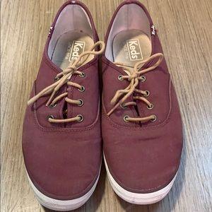 Keds burgundy sneakers
